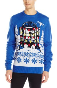 Star Wars Men's R2D2 Gift Wrap Sweater