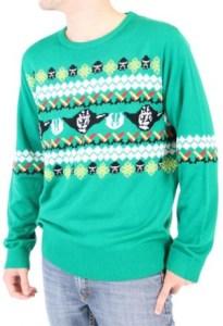 Star Wars Yoda Adult Green Ugly Christmas Sweater