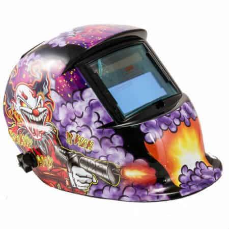 Clownsubmachine Gun Auto Darkening Welding Helmet