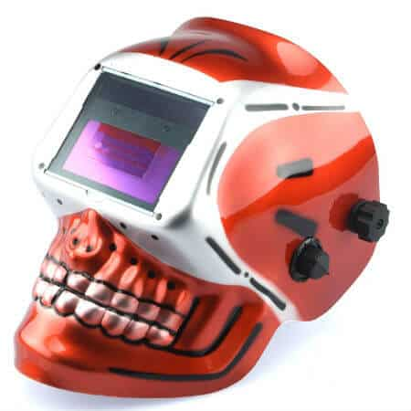 Red Skeleton Auto Darkening Tigmig Welding Helmet