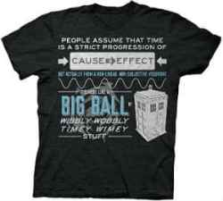 Dr. Who Wibbly Wobbly Quote Adult T Shirt
