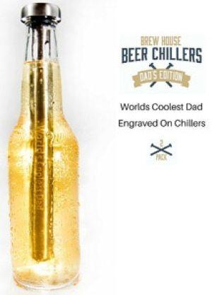 World's Coolest Dad Stainless Steel Drink Chiller Sticks