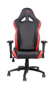 Ferrino Line Red On Black Diamond Patterned Gaming And Lifestyle Chair