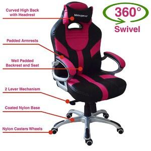MotoRacer Gamer Edition Gaming Chair Bg