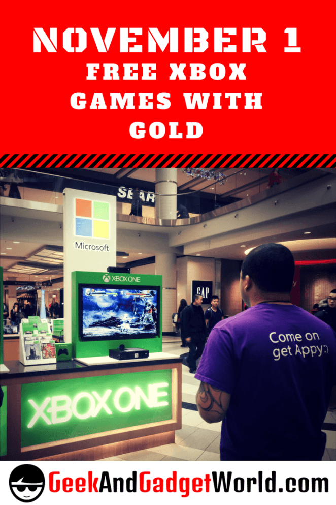 November 1 Free Xbox Games With Gold Pinterest