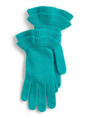 Talbots Ruffle Edge Gloves