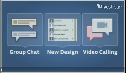 Chat, Design, video chat on Facebook