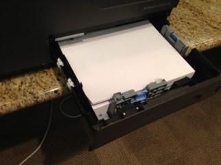 HP x576dw paper tray