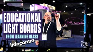 Learning Glass Light Board Keeps Your Eyes Forward