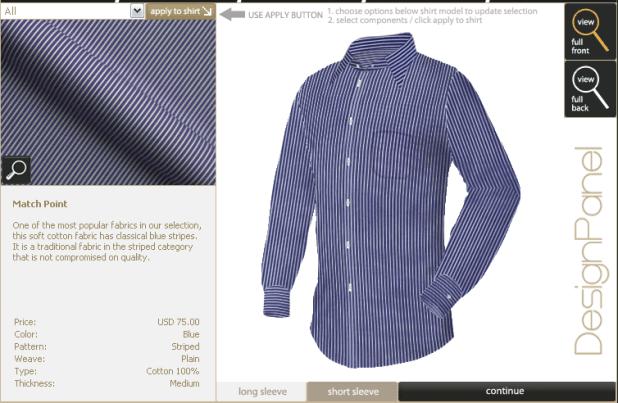 Personnalisation d'une chemise sur mesure : ShirtsMyWay!