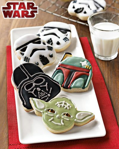 Des biscuits Star Wars en forme de personnages