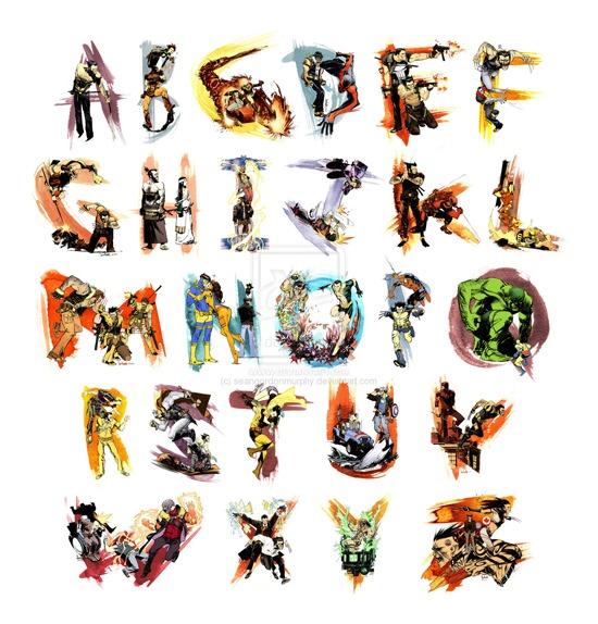 Apprendre l'alphabet avec Wolverine