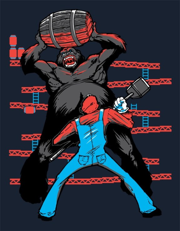 Image du t-shirt Donkey Kong VS Mario