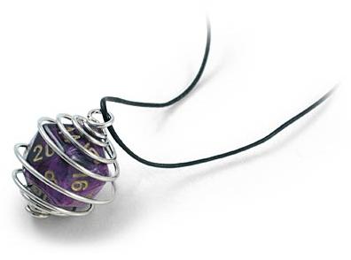 Collier avec un D20 - Idées cadeaux geek St-Valentin