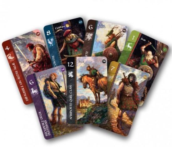 Cartes de jeu de Lords of Scotland