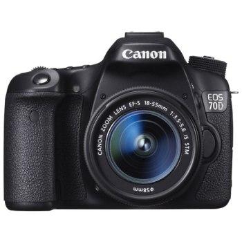 Canon EOS 70D DSLR Camera avec lentille 18-55mm IS STM