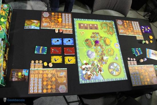 Le plateau complet du jeu Fourmidable au Salon du jeu et du jouet 2015