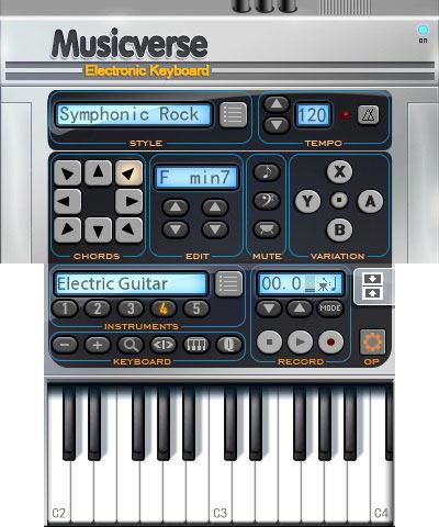 Musicverse - Electronic Keyboard (3DS) - Nintendo eShop 18 février 2016