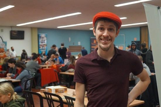 Albert Lamontagne, fondateur de Ludo Québec au Salon du jeu de société 2016