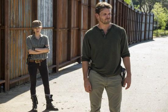 Spencer Monroe (Austin Nichols), Rosita Espinosa (Christian Serratos)- The Walking Dead Saison 7 Épisode 4 - Photo: Gene Page/AMC
