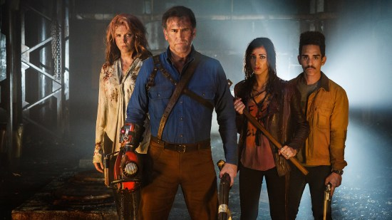 Ruby, Ash, Kelly et Pablo, face au danger.   Ash vs Evil Dead