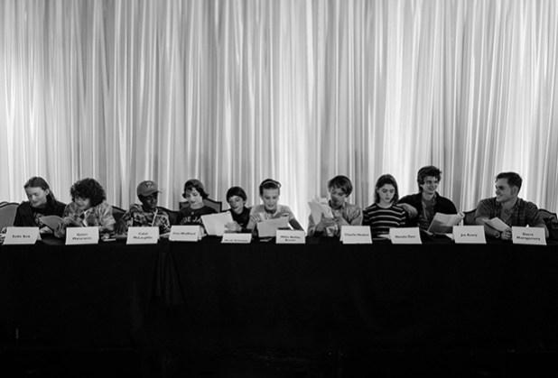 Le casting lors de la lecture de la saison 2.