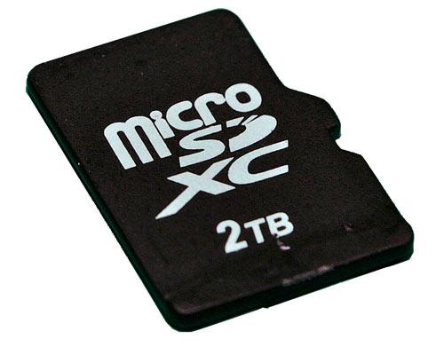 Carte MicroSDXC 2To