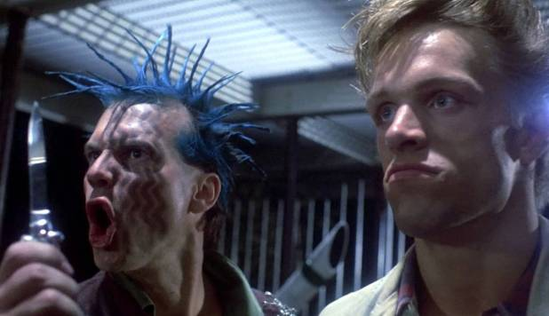 Bill Paxton en punk dans le premier film de la franchise Terminator en 1984