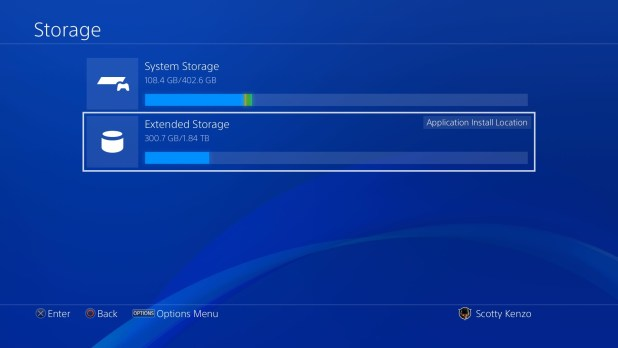 PlayStation 4 Sasuke - Mémoire externe