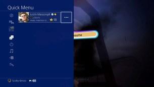 PlayStation 4 Sasuke - menu rapide