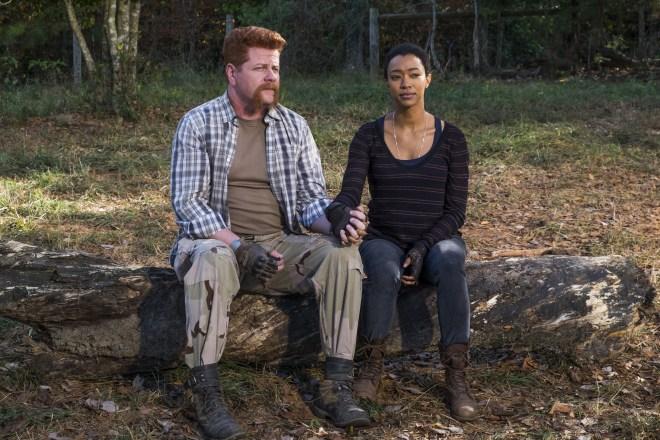 Sasha Williams (Sonequa Martin-Green), Sgt. Abraham Ford (Michael Cudlitz)- The Walking Dead Saison 7 Épisode 16 - Photo: Gene Page/AMC