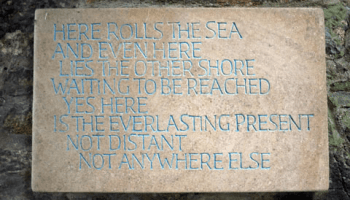 Here rolls the sea - a poem by Rumi at Dartington Hall