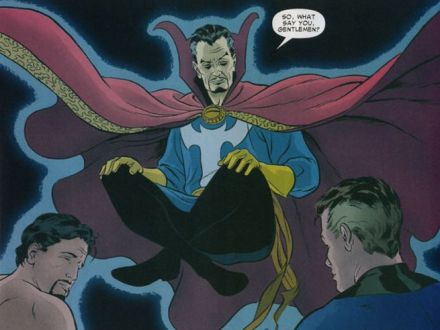 The cloak of levitation allows Doctor Strange to fly and appears to have a mind of its own.