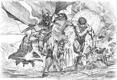 Ardian Syaf Pencils - Batman   Robin   Nightwing