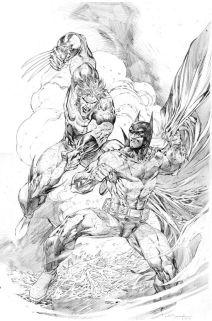 Ardian Syaf Pencils - Batman   Wolverine