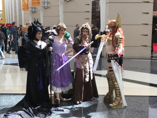 C2E2 2017 Cosplay - Malefecent | Aurora | Angela