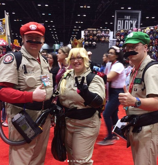 C2E2 2017 Cosplay - Super Mario:Ghostbusters Mashup