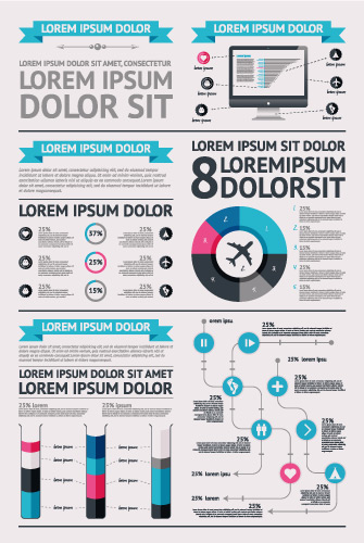 10-Vector-Infographics-pie-charts