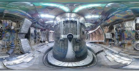 The inside of the Alcator C-Mod Tokamak reactor at MIT.