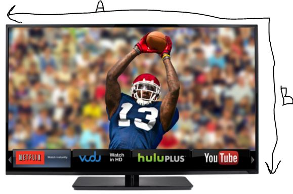 Because a Geek Has to Do it: Calculating the Dimensions of a New TV