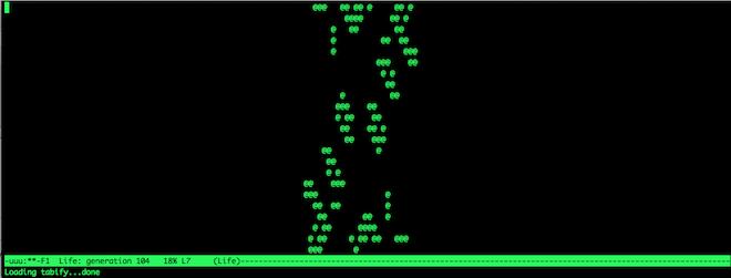 Emacs game of Life (Image: Brian Mclaughlin)