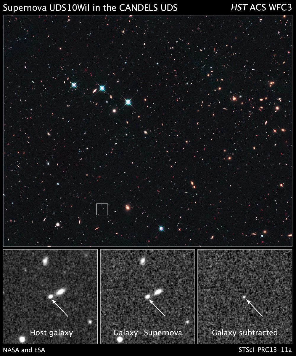 NASA – Hubble Breaks Record in Search for Farthest Supernova