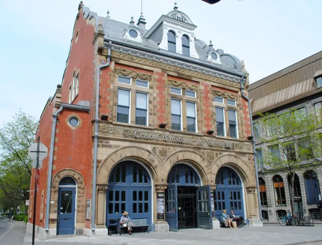 Historic first fire hall in Old Montreal