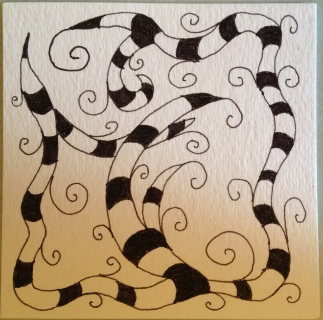 Btl Joos (get it??). My second-ever Zentangle. Photo: Jenny Williams