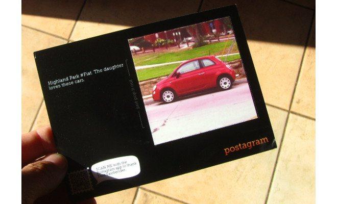 A Postagram of a Fiat