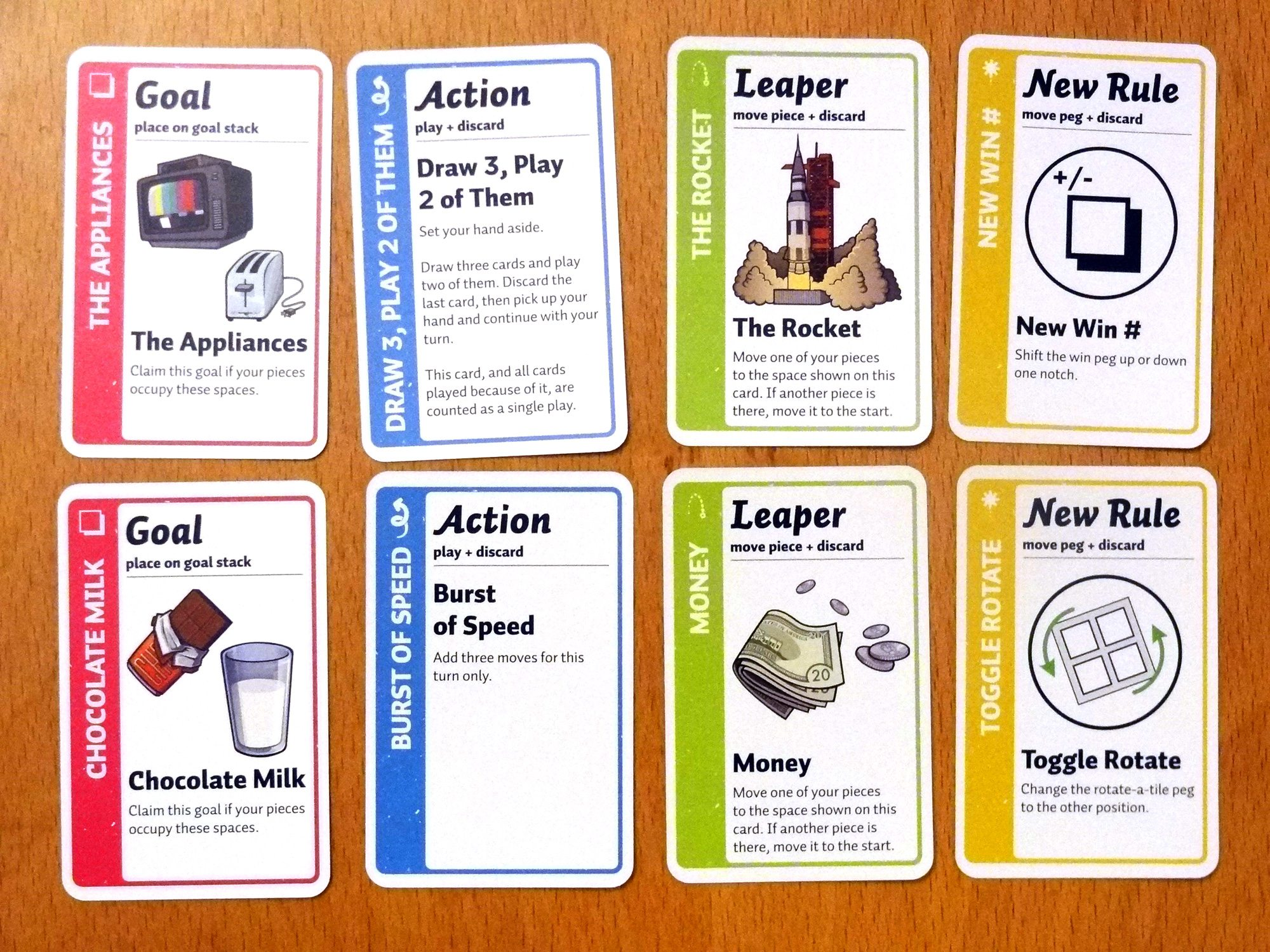 Fluxx Board Game cards