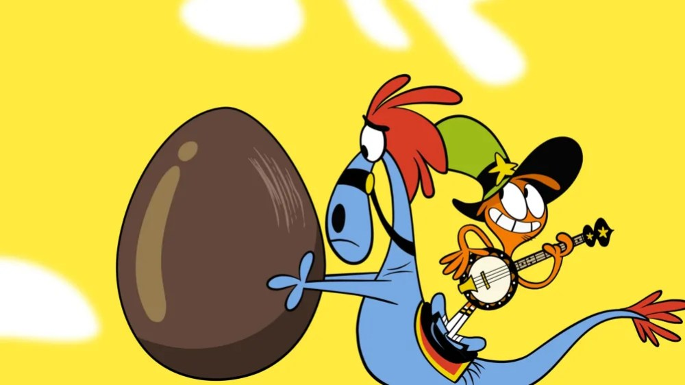 "Wander and Sylvia, with the egg from ""The Egg"" (naturally)"