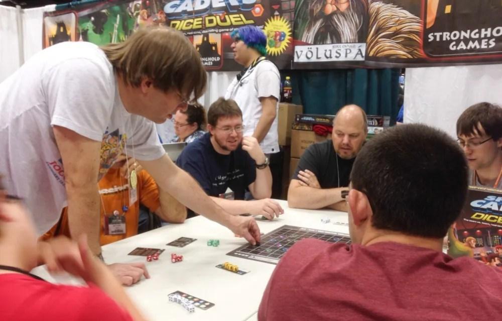Geoff Engelstein teaches Dice Duel at Gen Con