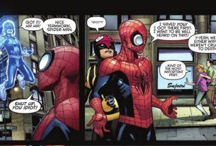 Nova and Spidey Jerk...umm...Superior Spider-Man  Image: Copyright Marvel