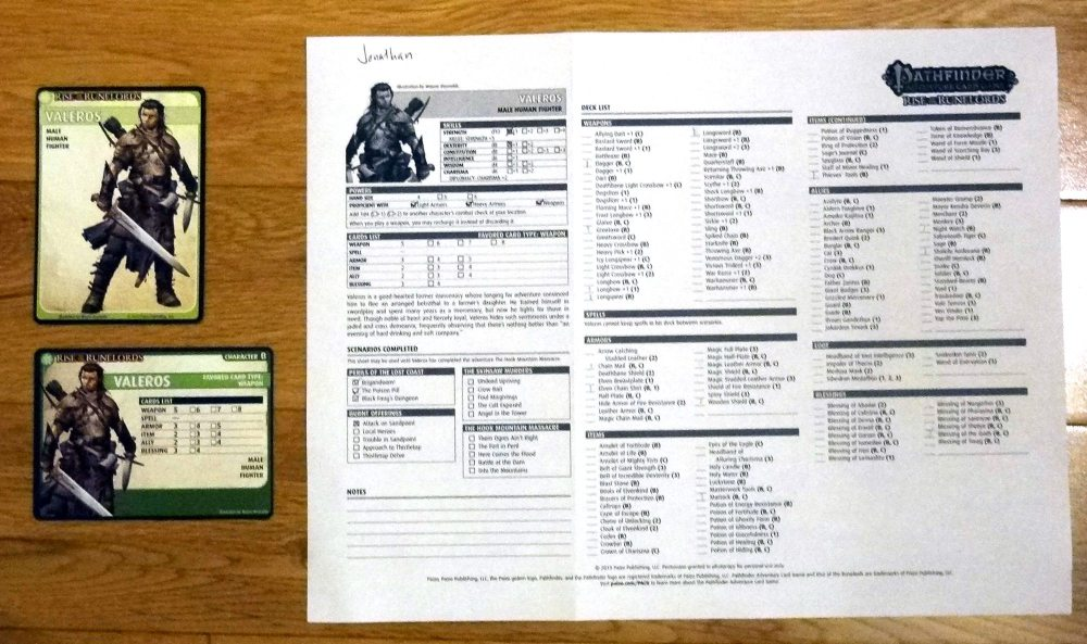 rise of the runelords card game scan pdf